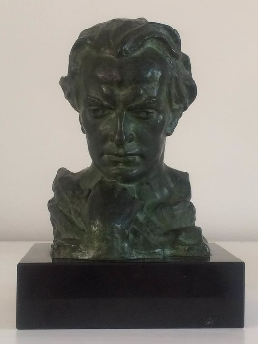 Sculpture by Jean Marais signed BECOX - Bronze, Marble - mid 20th century