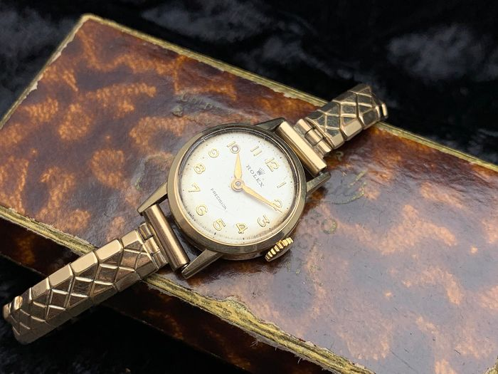 Rolex - Precision - Gold - Ladies dresswatch - Damen - 1954