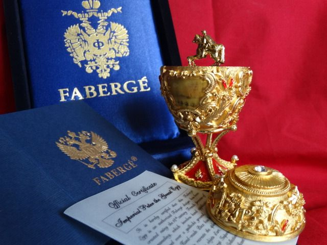 Faberge egg Imperial - Original - Fabergé - Certificate of Authenticity -COA - Numbered - authentic - 24 k gold finish