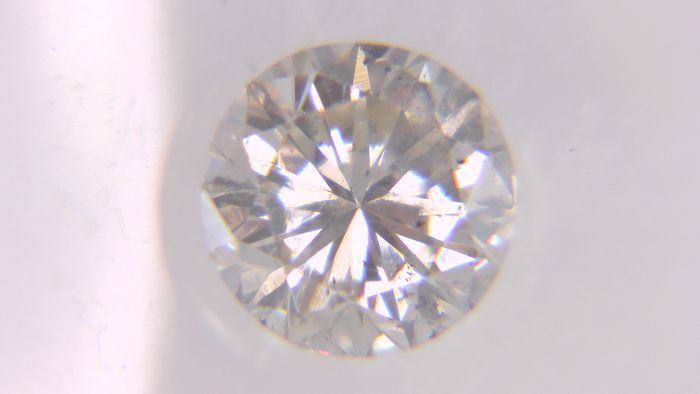1 pcs Diamant - 0.59 ct - Rond - I - SI1, No Reserve Price!