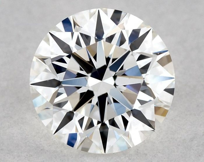 1 pcs Diamant - 0.52 ct - Brillant, Rund - E - VVS2, * 3EX *, Low Reserve Price + Free FedEx Shipping