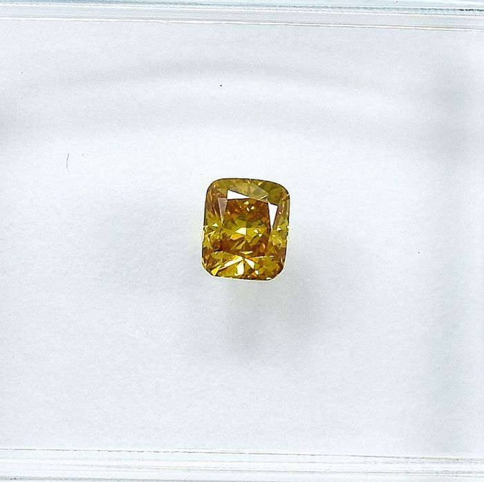 Diamant - 0.20 ct - Kissen - Natural Fancy Brownish Yellow - Si1 - NO RESERVE PRICE
