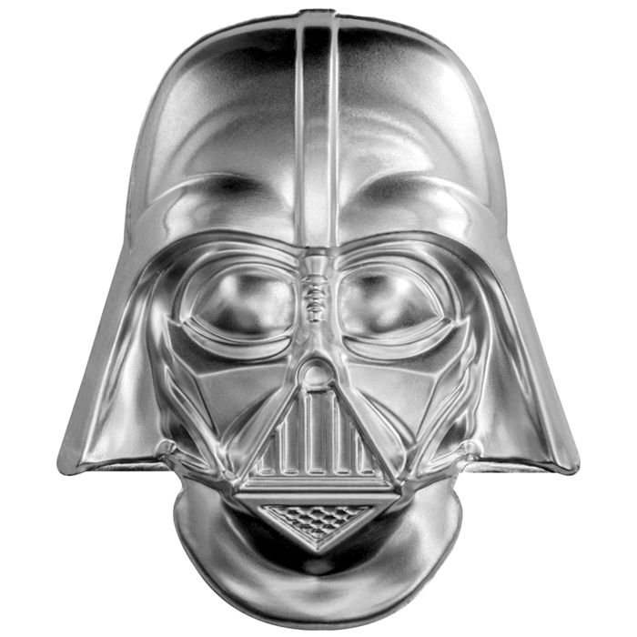 Niue - 5 Dollar 2019 New Zealand Mint Star Wars Darth Vader Helm / Maske - Ultra High Relief - mit Coa & Box - 2 oz - Zilver