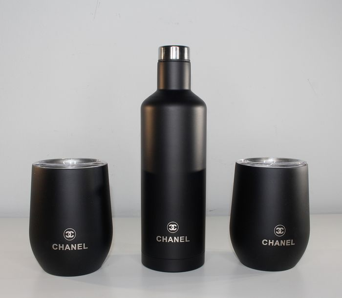 Chanel - Thermos flask with 2 cups - Luxury set - Black edition