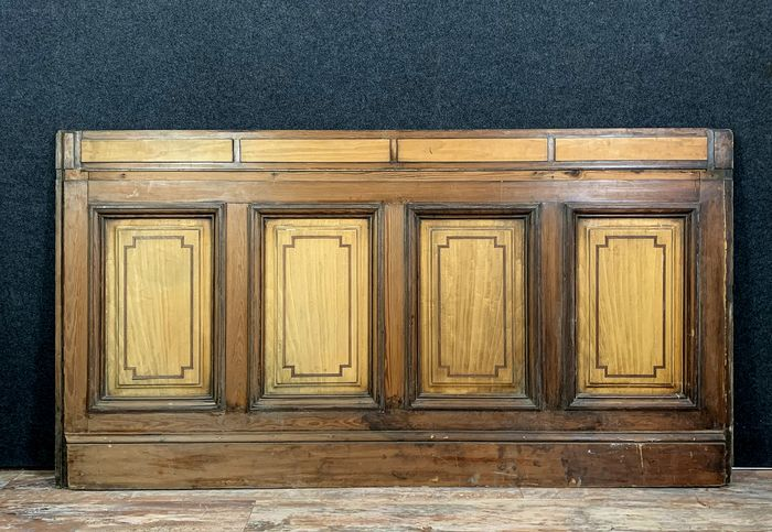 Rare panel of softwood and light wood - Louis XVI Style - Wood - 19th century