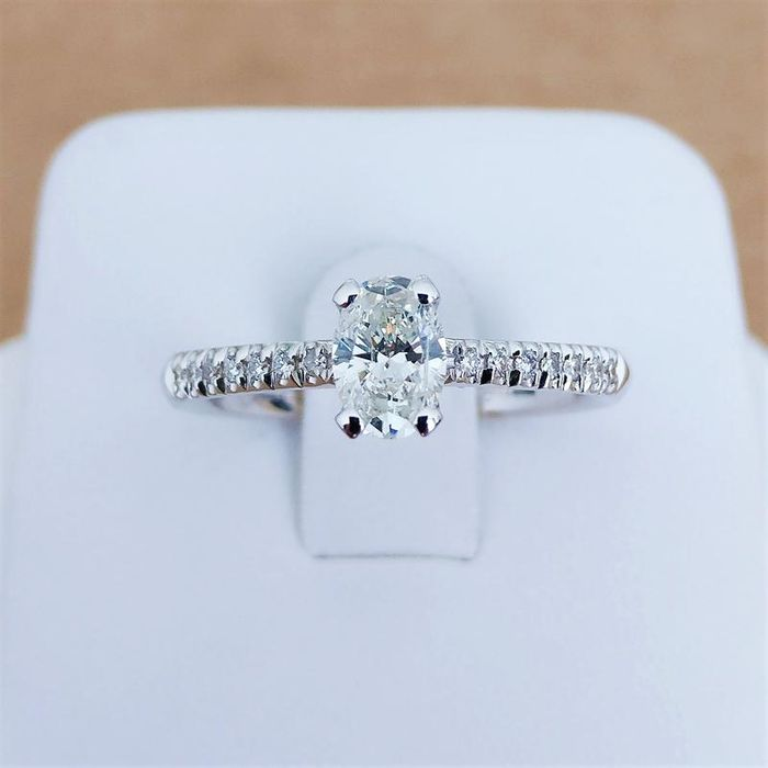 18 kt. White gold - Ring - 0.51 ct Diamond - Diamonds