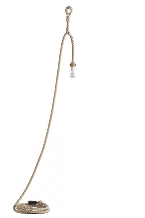 Christien Meindertsma - Thomas Eyck - Lamp (1) - t.e. 075, Flax lamp with loop, 10 metres