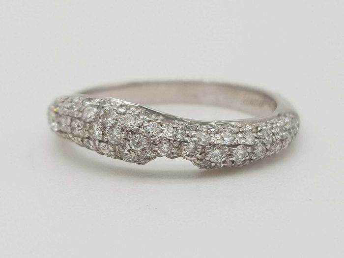 ZANCAN - HRD Certificate - no reserve price - 18 kt Weißgold - Ring - 1.05 ct Diamant