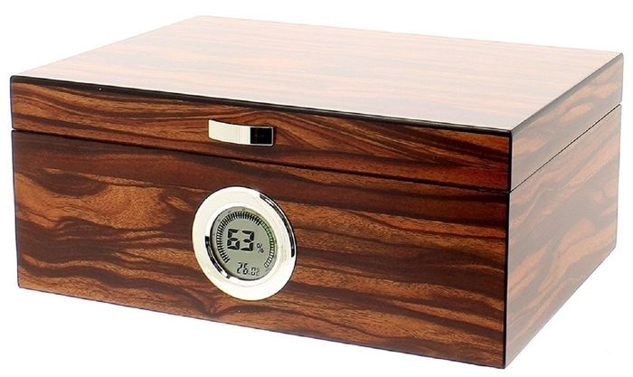 Humidor for 50 cigars brand Angelo - digital hygrometer - 1