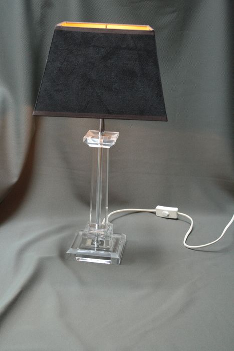designer onbekend - Plexiglas lamp with velor shade