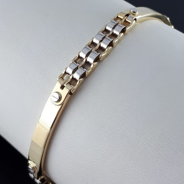 14 kt. White gold, Yellow gold - Men's  Bracelet