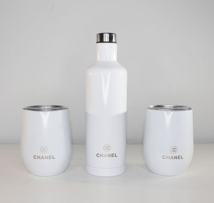Chanel - Thermos flask with 2 cups - Luxury set - White edition
