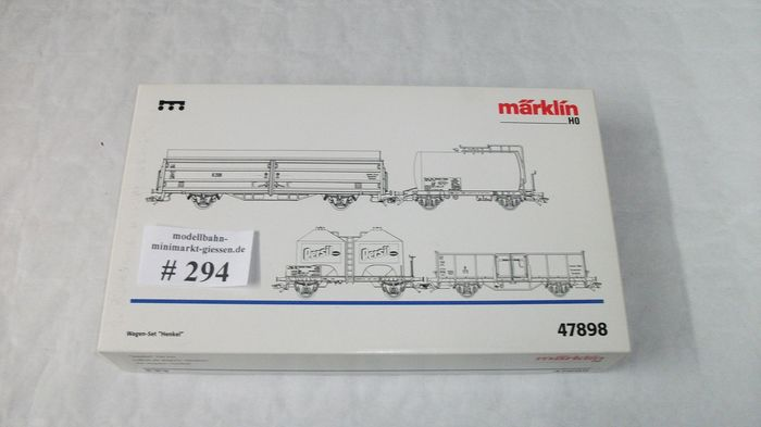 Märklin H0 - 47898 - Freight wagon set - 4 pieces, car set Henkel - # 294