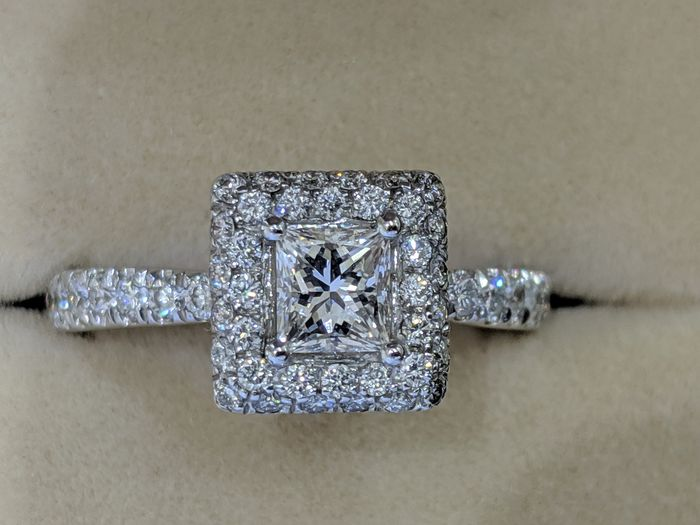 Diamonds Mine - 18 carats Or blanc - Bague - 0.51 ct Diamant - Diamants