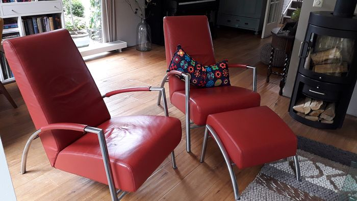 Harvink Design Fauteuil.Harvink Harvink 2 Fauteuils Hocker 3 De Club Catawiki