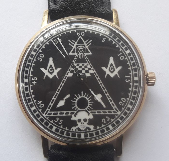 "Poljot International -  DeLuxe ultra-slim ""Masonic"" Cal. 2209.  - Herren - 1970-1979"