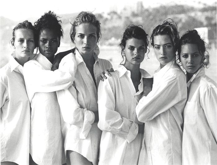 Peter Lindbergh (1944-2019) - The Supermodels On The Beach Publication Photo