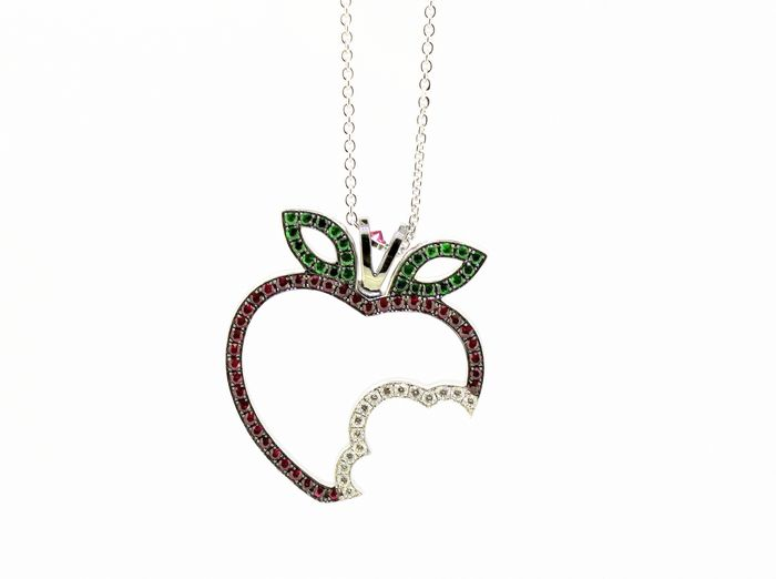 Theo Fennell - 18 kt. White gold - Necklace, Necklace with pendant - Diamonds, Garnets, Rubys