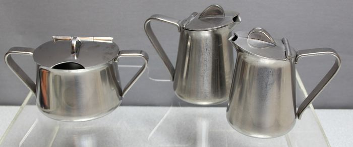 Alessi - Can, sugar Bowl (3) - Steel (stainless)