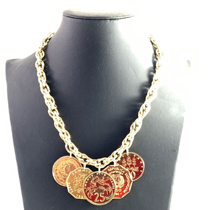 Franklin Mint - The Golden Caribbean Necklace - 24 carat gold plated with certificate of authenticity (COA)