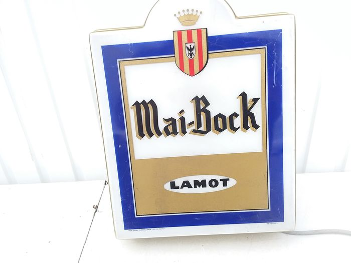 illuminated sign mai bock lamot (1) - Plastic