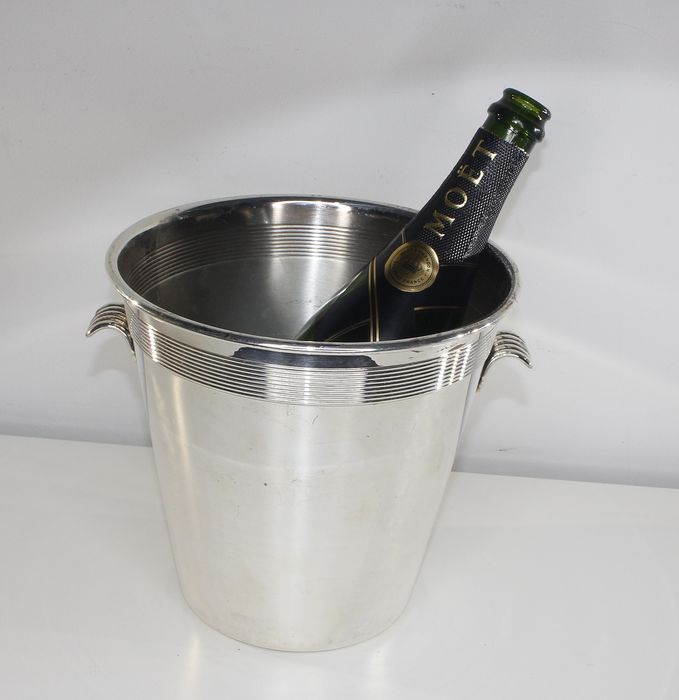 Art Deco Champagne Cooler, Silver-Plated