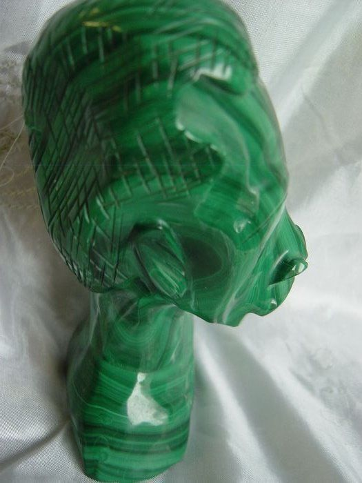 Malachite Polished - 12×8×6 cm - 696 g - (1)