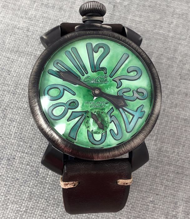 "GaGà Milano - Manuale 48MM Vintage Green ""NO RESERVE PRICE"" - 5012 - Unissexo - BRAND NEW"