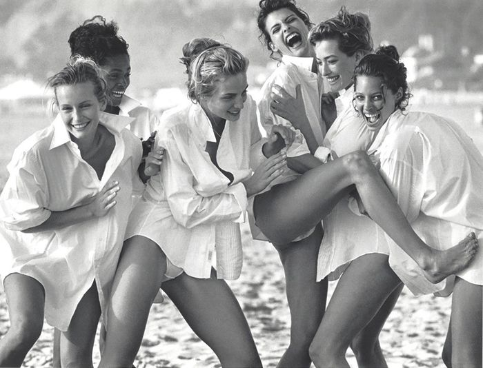Peter Lindbergh (1944-2019) - The Supermodels On The Beach Fashion Photo