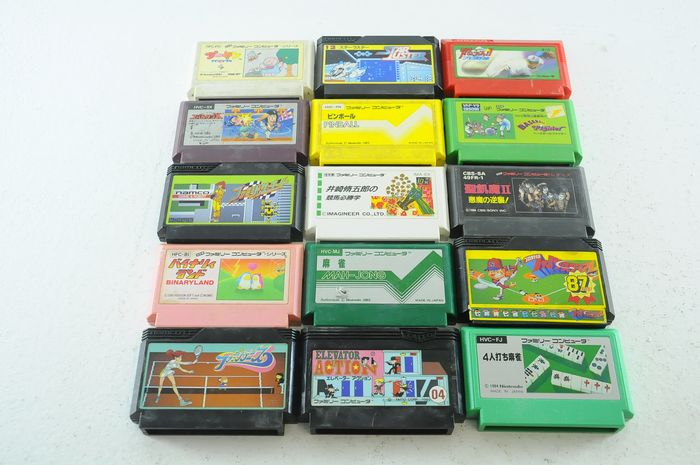 Nintendo Famicon (Jap Nes) - 15 Famicom Games incl. Pijnball, Starcluster and more - Sin la caja original