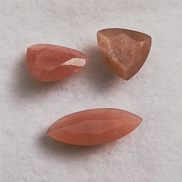 3 pcs Golden Sunstone - 9.20 ct