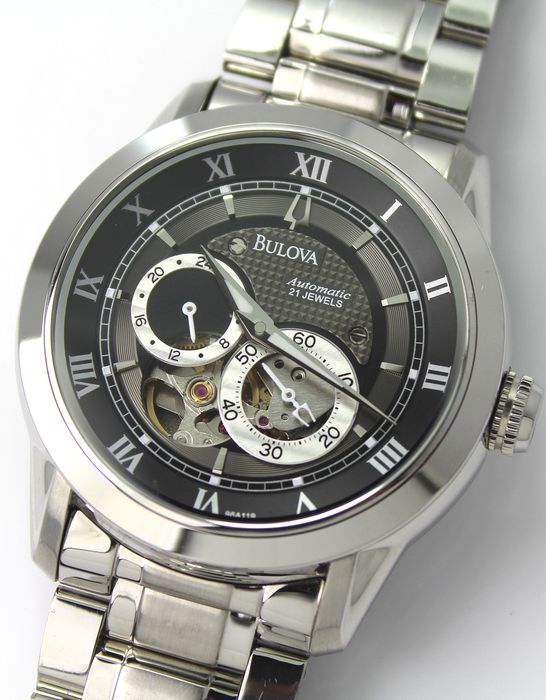 "Bulova - ""NO RESERVE PRICE"" Automatic  - 21 Jewels Skeleton Dial - Herren - 2011-heute"
