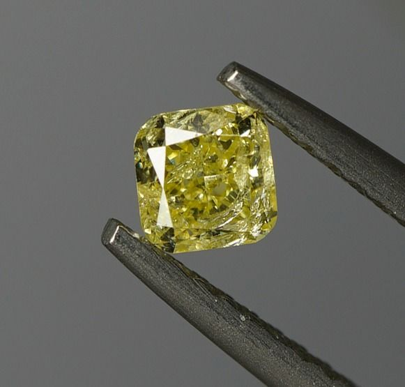 2 pcs Diamants - 0.66 ct - poids total - Coussin - fancy yellow - SI2- No Reserve