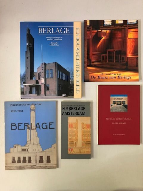 H.P. Berlage - Lot with 5 books - 1975/2002