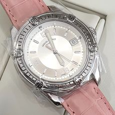 Armand Nicolet - Tramelan Skeleton Back Case - Automatic Swiss Made - 9060A-AG-P1424LBU - Pink Genuine Leather Strap - Mujer - 2011 - actualidad