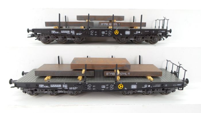 "Märklin H0 - 48664 - Freight wagon set - Set of heavy load trucks Sammp 705 ""Steel Blocks"" - DB"