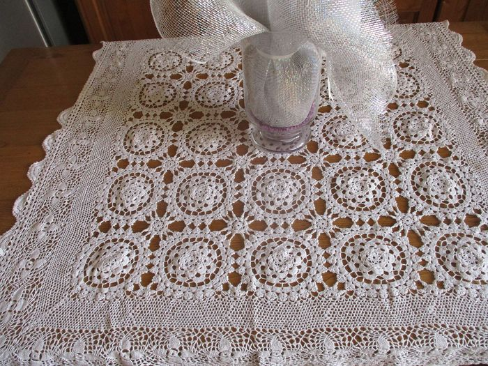 Tablecloth (1) - Antique Cotton - 1900