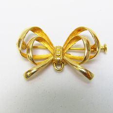 4.30 gr. - 30 x 20 mm. - 18 carats Or jaune - Broche
