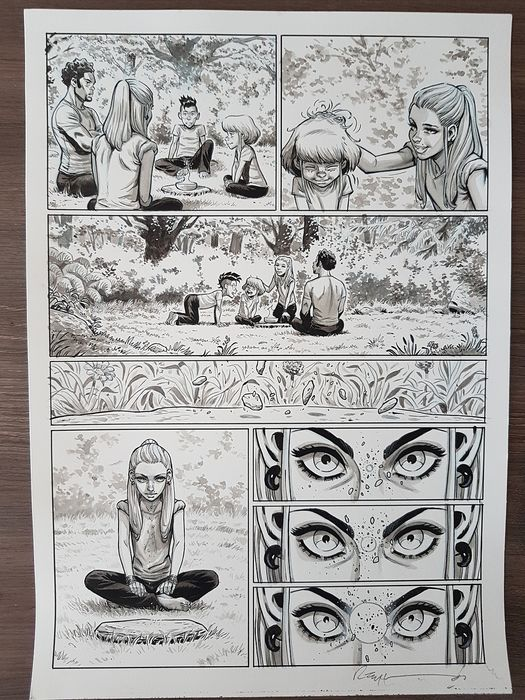 Harmony - Original page from part 4: Omen -Reynes Mathieu -