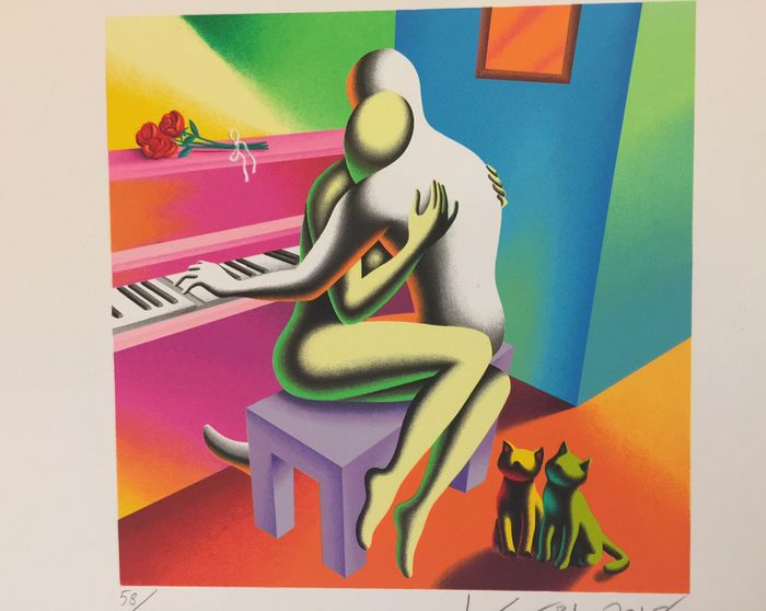 Mark Kostabi - The Right Notes - Serigrafia 36 passaggi di colore tir. 58/100