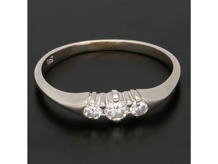 14 karaat Witgoud - Ring