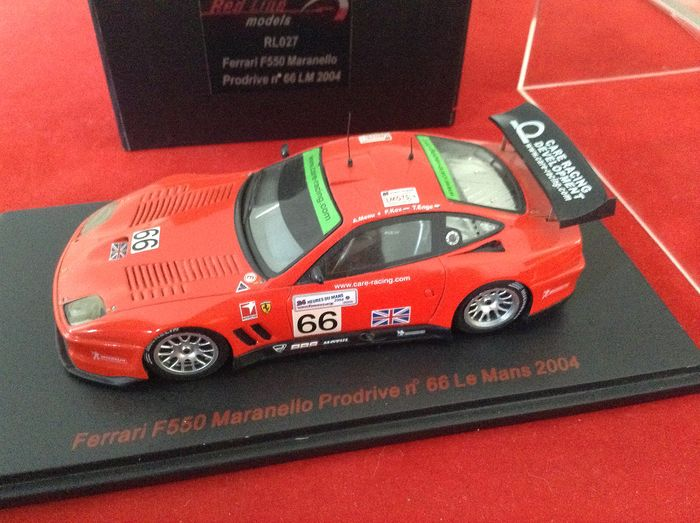 RED LINE - 1:43 - ref. #RL027 Ferrari F550 Maranello Berlinetta GTS #66 11th Le Mans 2004  - very rare - limited edition - numbered # 545/750 - excellent quality