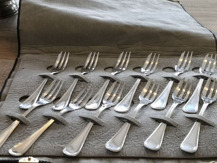 Dessert forks (12) - .800 silver - Italy - Second half of the 20th century