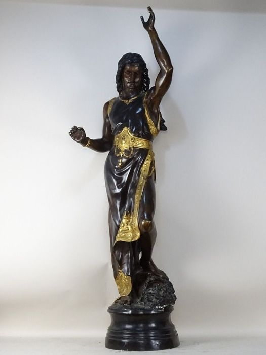 In style of Émile Louis Picault - Sculpture, Standing female figure