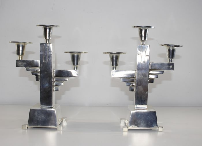 2 candlesticks - Silver plated