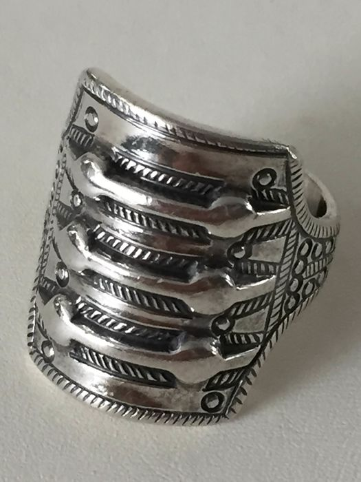 925 Silber - Ring, Wikinger Replik David Andersen
