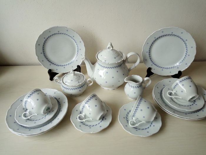 MZ Czechoslavakia - Breakfast service for 4 people - Porcelain