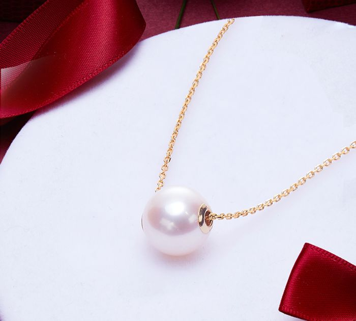 18 kt. Akoya pearl, Gold - Necklace - 6.00 ct