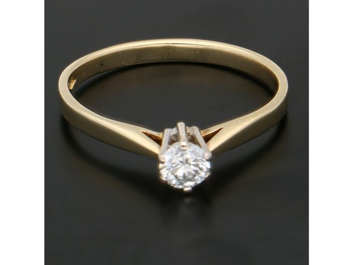 14 kt. Gold - Ring - 0.23 ct Diamond