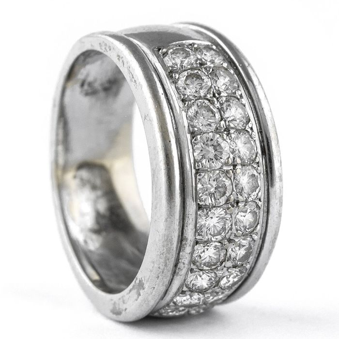 Exclusive - 18 kt. White gold - Ring Diamond
